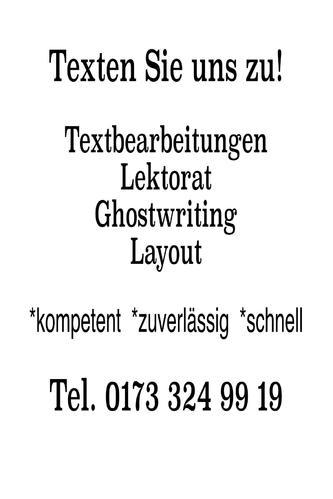 Service für Texte und Textbearbeitungen